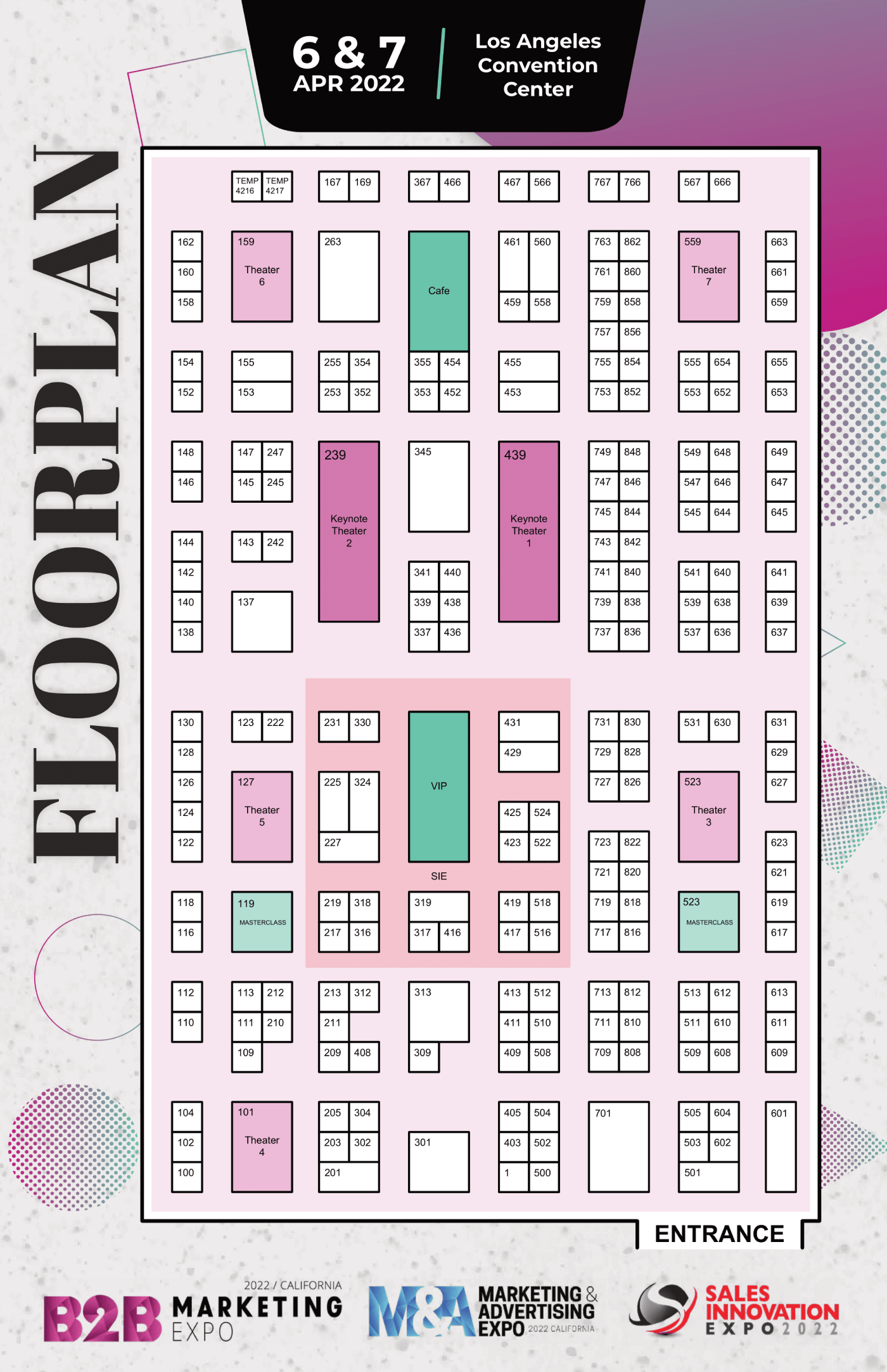 B2B Marketing Expo floorplan